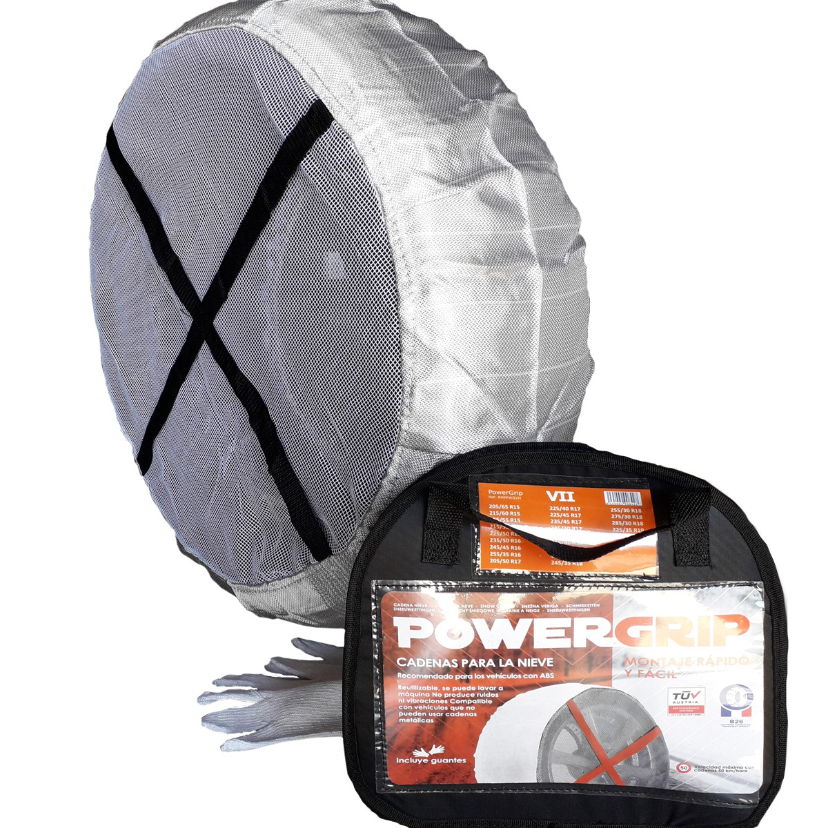 Cadena textil PowerGrip talla III
