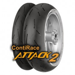 Continental ContiRaceAttack 2 MEDIUM 190/55 ZR 17 M/C 75W TL Rear